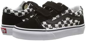 Vans Kids Old Skool V x Peanuts Snoopy/Checkerboard) Kids Shoes