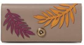 Lauren Ralph Lauren Palm Leaf Leather Continental Wallet
