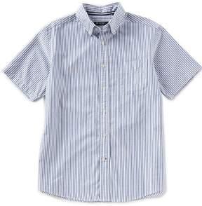 Daniel Cremieux Vertical Stripe Oxford Short-Sleeve Woven Shirt