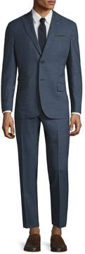 Michael Bastian Gray Label Men's Wool Mini Checkered Peak Lapel Suit