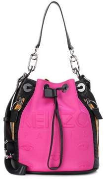 Kenzo Leather-trimmed bucket bag