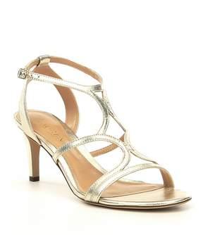 Lauren Ralph Lauren Gilah Metallic Suede Dress Sandals
