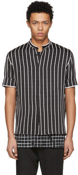 Haider Ackermann Black and White Morganite Shirt