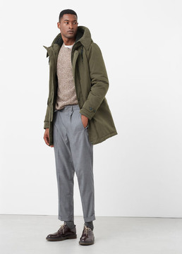 Mango Outlet Quilted hooded parka