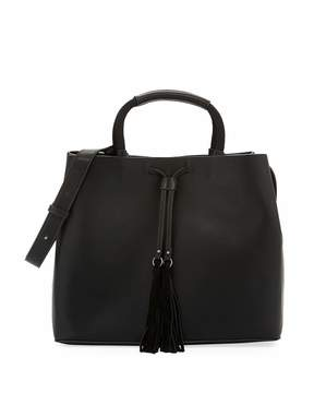 French Connection Alana Smooth Shoulder Tote Bag, Black