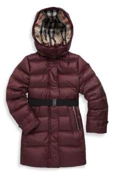 Burberry Little Girl's & Girl's Mini Dalesford Puffer Jacket