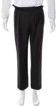 Ralph Lauren Purple Label Flat Front Wool Pants