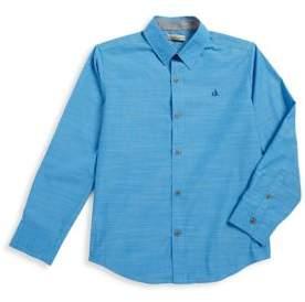 Calvin Klein Jeans Boys' Textured Button-Down Shirt