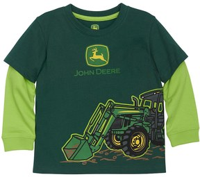 John Deere Baby Boy Front Loader Mock-Layer Graphic Tee