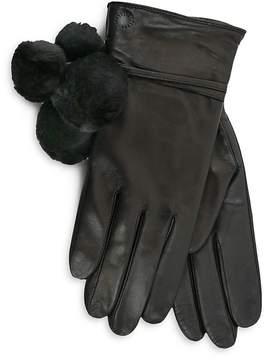 UGG Brita Shearling Pom-Pom Tech Gloves