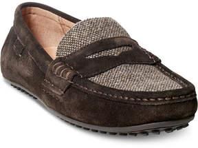Polo Ralph Lauren Men's Wes Suede-Tweed Drivers Men's Shoes