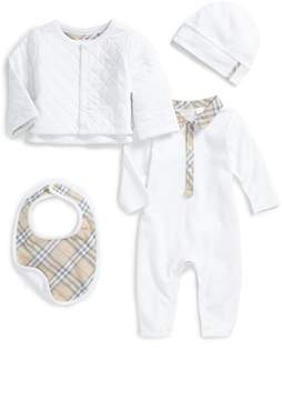Burberry Zayden Romper, Jacket, Hat & Bib Set