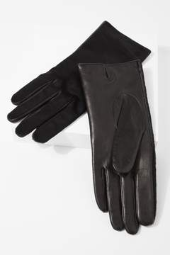 7 For All Mankind Calf Hair Short Gloves In Black