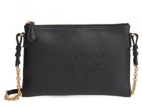 Burberry Peyton Leather Crossbody Bag - Black - BLACK - STYLE