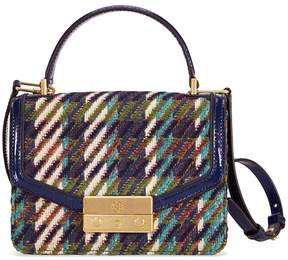 Tory Burch Juliette Tweed Mini Top Handle Satchel - Green Dogstooth - ONE COLOR - STYLE