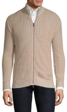 Isaia Two-Tone Knitted Jacket