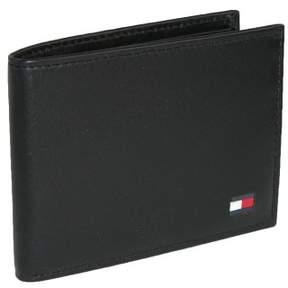Tommy Hilfiger Men's Leather Bold Passcase Billfold Wallet, Black