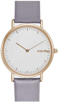 RumbaTime SoHo White Dial Lilac Leather Strap Watch