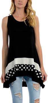 Celeste Black & White Hi-Low Tunic - Women
