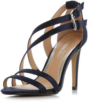 Head Over Heels *Head Over Heels by Dune Navy 'Mulin' High Sandal