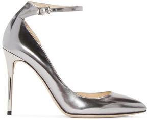 Jimmy Choo Silver Mirrored Lucy Heels
