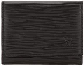 Louis Vuitton Noir Epi Leather Business Card Holder - BLACK - STYLE