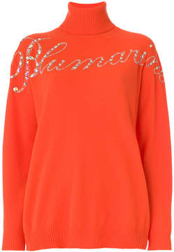 Blumarine gemstone logo sweater