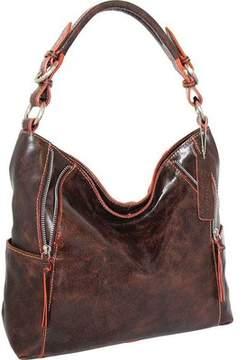 Nino Bossi Indira Leather Hobo Handbag (Women's)