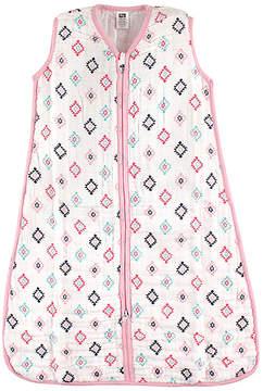 Hudson Baby Pink & Teal Geometric Sleeping Bag