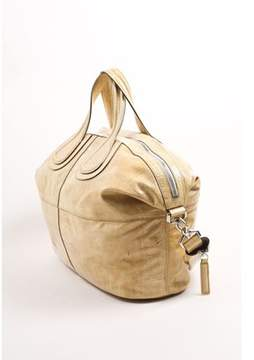 Givenchy Pre-owned Beige Crinkled Patent Leather Large nightingale Shoulder Tote Bag.
