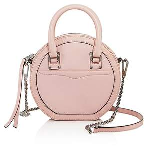 Rebecca Minkoff Bree Circle Leather Crossbody - 100% Exclusive - PEONY/GUNMETAL - STYLE