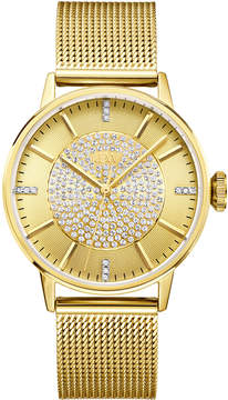JBW Women's Belle Diamond 18K Gold-Plated Stainless Steel Watch, 36mm