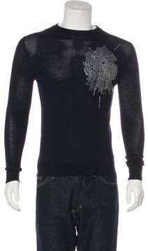Christian Dior 2008 Embellished Wool Sweater