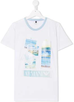 Emporio Armani Kids TEEN Marina print T-shirt