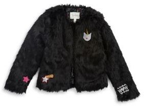 Jessica Simpson Girl's Faux Fur Jacket