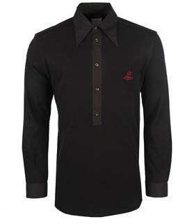 Vivienne Westwood Black Cotton Polo Shirt.