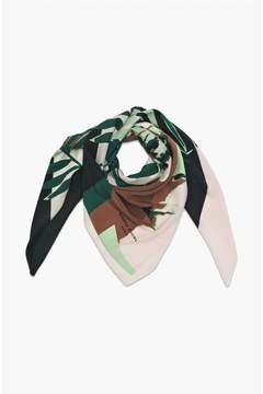 Sonia Rykiel | Palm Print Square Maxi Scarf