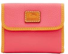 Dooney & Bourke Patterson Leather Small Flap Credit Card Wallet - BUBBLE GUM - STYLE