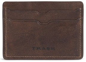 Trask Men's 'Jackson' Bison Leather Card Case - Brown