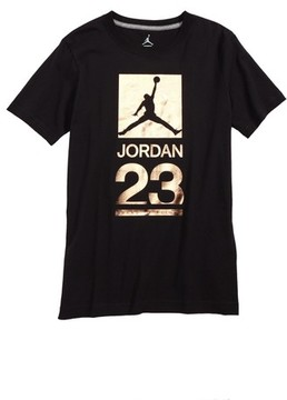 Jordan Boy's 23 Metallic Screenprint T-Shirt