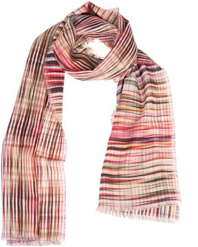 Paul Smith Crossover Stripe Double Sided Scarf