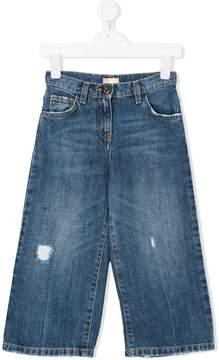 Elisabetta Franchi La Mia Bambina wide-leg jeans
