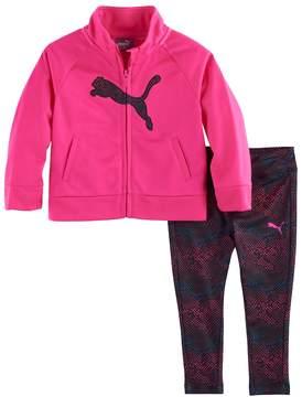 Puma Baby Girl Jacket & Leggings Track Suit Set