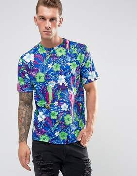 Jaded London T-Shirt In Tropical Print