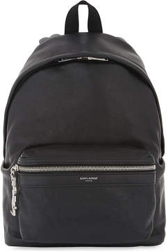 Saint Laurent City mini leather backpack - BLACK - STYLE