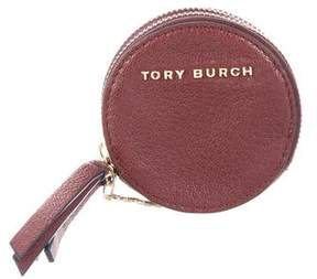 Tory Burch Leather Key Pouch - BURGUNDY - STYLE