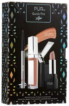 PUR Cosmetics Quick Pro Lips 3-piece Set - Nude