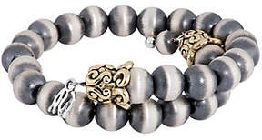 American West Silver and Brass Beaded Coil Brac