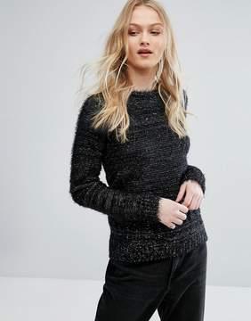 Bellfield Cussad Lurex Mixed Yarn Knit Sweater