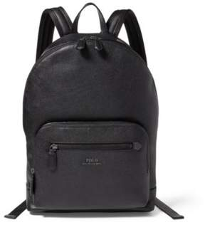 Ralph Lauren Pebbled Leather Backpack Black One Size